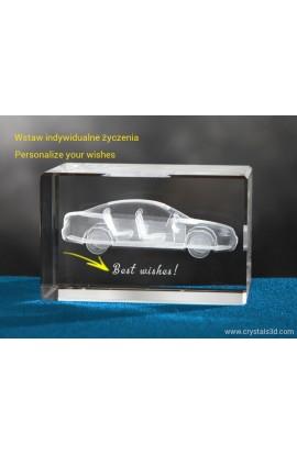 Kryształowa kostka 50*50*80 - samochód 3D