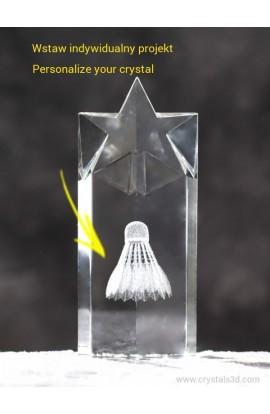 Kryształowa statuetka z gwiazdą 200*85*50