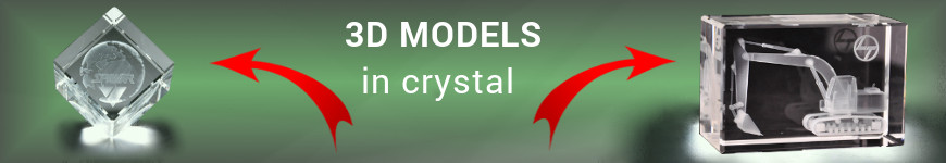 Models 3d in crystal