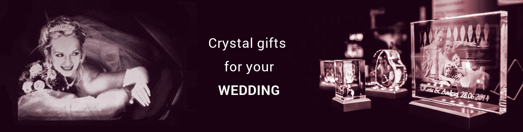 crystal wedding gifts